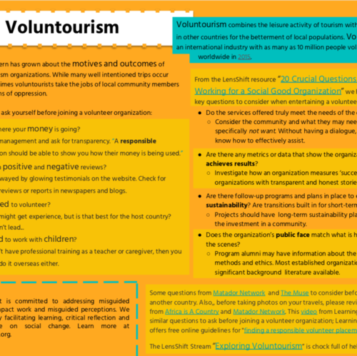 Thumb voluntourism